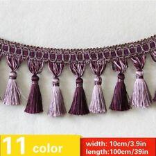 Tassel Fringe Edging Trim Sewing Craft Curtain Cushions Furnishings 10cm4'' Wide