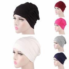 Elegant Womens Soft Chemo Cap Sleep Turban Hat Cancer Hair Loss Cotton Head Wrap