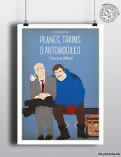 Planes, Trains & Automobiles-minimalistische Art Film Poster Minimal Print Candy