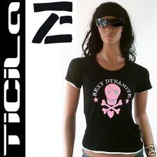 Ticila * sexy Dynamite * Sweet tatuaje Skull 'y t-shirt S/M