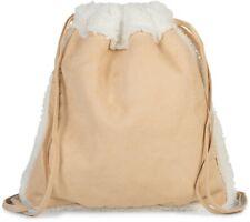 Sac de gym en tissu souple et doublé de fourrure, sac à dos, sac