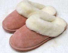 Women SHEEPSKIN Scuff Slipper Shoe Slide  5 6 7 8 9 10