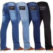 Kruze Mens Basic Straight Leg Bootcut Stretch Jeans Denim Regular Big Tall Waist