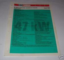 Inspektionsblatt Yamaha XZ 550 Typ 11U - Stand 1983!