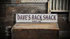 Custom Deer Hunting Rack Shack Sign -Rustic Hand Made Distressed Wood ENS1000795