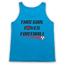 THIS GIRL LOVES FOOTBALL SLOGAN SPORTS LOVER SOCCER UNISEX TANK TOP VEST