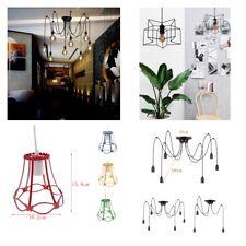 Industrial Vintage Metal Cage Ceiling Pendant Light Holder Lamp Shade Fixture