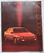 1988 Dodge Shadow (USA) Brochure Pub.No.81-205-8016