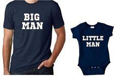 Big Man little man funny father son matching shirts daddy son matching shirts