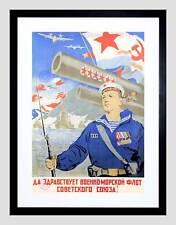 Flota naval soviética Guerra propaganda wwiis Negro enmarcado impresión de arte imagen B12X7760