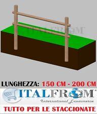 Staccionata Steccato Recinzione in Legno di Pino 2 Fori a Interrare da Giardino