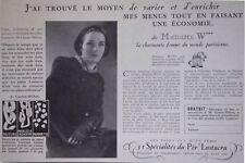 PUBLICITÉ DE PRESSE 1935 VARIEZ LES PATES AUX OEUFS FRAIS DU PER' LUSTUCRU
