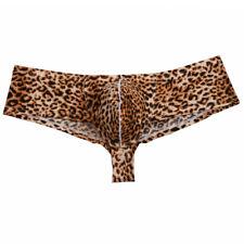 Men Booty Shorts Cheeky Boxer Briefs Underwear Guy Gym Pouch Slim Cut Buns Boxer
