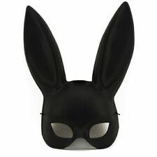 Black Masquerade Bunny Rabbit Ariana Grande Mask Adult Halloween Costume