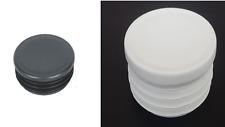 Round Plastic Black/White Blanking End Cap Caps Tube Pipe Inserts Plug Bung