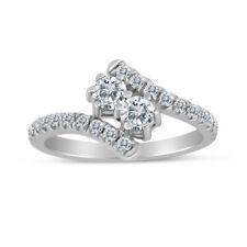 in 14K White Gold 1.00ctw Diamond Two Stone Ring