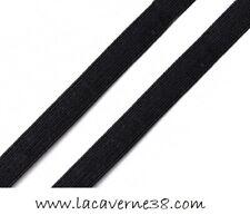 2/8/15 m élastique plat 3 mm noir couture mercerie lingerie