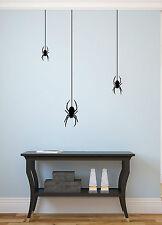 Spinne 3er Set - Horror Wohnzimmer Flur Diele Halloween Wandaufkleber WandTattoo