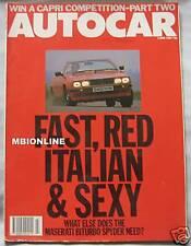 AUTOCAR magazine 3/6/1987 featuring Maserati Biturbo, BMW M1, M3, M5, M535i,M635
