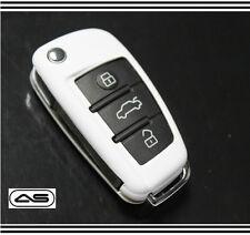WHITE Key Cover Case for Audi Key Protector S line Sport 8P 8PA B7 8E C6 MK2 28
