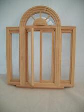 Window Circlehead Casement 5049  w/ trim dollhouse miniature wooden 1/12 scale
