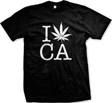 I Heart Love Pot Leaf CA California Marijuana Legal Weed THC 420 Mens T-shirt
