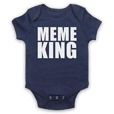 MEME KING MEME FUNNY JOKE COMEDY INTERNET LOVER BABY GROW SHOWER GIFT