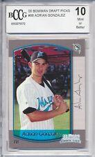 2000 Bowman Draft Adrian Gonzalez RC Rookie BGS/BCCG 10 Los Angeles Dodgers