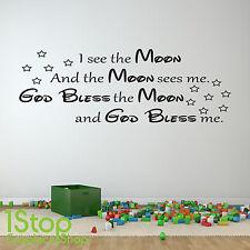 Considero la luna di adesivi murali preventivo-Camera dei Bambini Muro Arte Decalcomania X203
