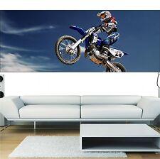 Papier peint panoramique Moto cross 3697 Art déco Stickers