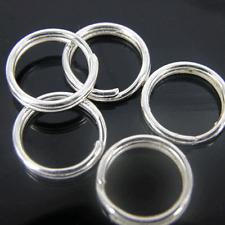 200 x SILVER PLATED anelli brisè 4mm 6mm 8mm ** migliore qualità STOCK