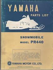 1976 VINTAGE YAMAHA SNOWMOBILE PR440 PARTS MANUAL