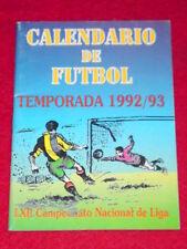 NACIONAL DE LIGA - FOOTBALL FIXTURES 1992-93 (3x 4in)