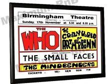 The Who Faces Arthur Brown Concert Poster Birmingham Theatre 1968