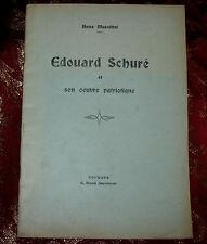 Libro 1920 Edouard Schuré di Anna Musettini Autografato Ex Libris