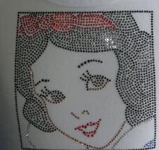 Disney Snow White iron on rhinestone transfer DIY applique patch decal