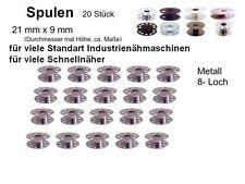 20 Spulen für Industrienähmaschine ! Metall, 270010W, 8 Loch Spule  #kk