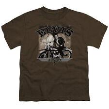 Elvis Presley Kids T-Shirt TCB Motorcycle Coffee Tee