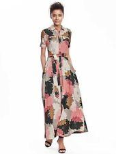 NEW WOMEN'S PETITE & REG SIZE BANANA REPUBLIC FLORAL MAXI SHIRTDRESS SHIRT DRESS
