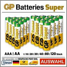 GP Super Piles Alcalines AAA Micro l AA Mignon SÉLÉCTION LR03 LR06 1 -120 Pièces