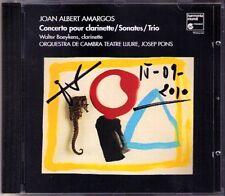 Josep PONS Signed Joan Albert AMARGOS Clarinet Flute Concerto Sonata Trio CD