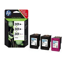 HP E5Y87EE 301 3 CARTUCCE ORIGINALI BK NERO TRICOLORE MULTIPACK
