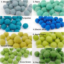 Bright Pom Pom Felt Balls Jewelry making Beads Nursery Supplies Soft and cozy