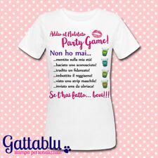 T-shirt donna Addio al Nubilato Party Game Non ho mai, gioco, personalizzabile