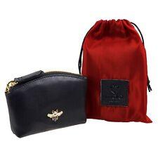 Ladies Premium Mala Leather Coin Purse Golden Mason Bee RFID