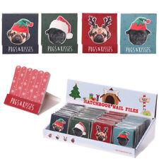 Pug Xmas Design Nail File Matchbook - Perfect Pug-Lover Gift Idea, Secret Santa