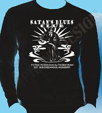Satans Blues Bar Delta Blues Robert Johnson Inspired Long Sleeve T-Shirt Rock