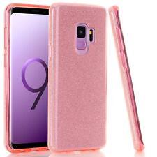 For Samsung Galaxy S9 Plus/S9 Bling Glitter Hard Ultra Slim Phone Case Rose Gold