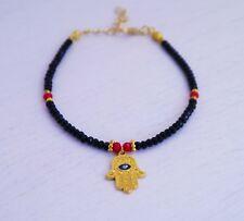 Turkish Greek Evil Eye Bracelet Handmade Ceramic Bracelets Hamsa Hand