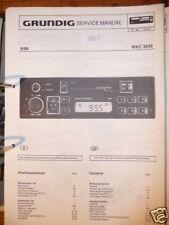 Service Manual Grundig WKC 3640 Autoradio,ORIGINAL